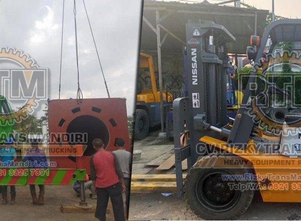 jasa rental sewa forklift crane Semarang terpercaya